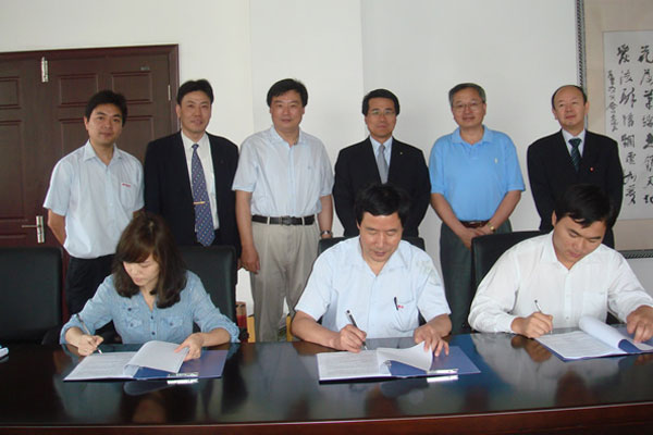 与日本客户签订合作协议